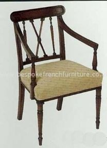 George III Carver Chair Arrow Back